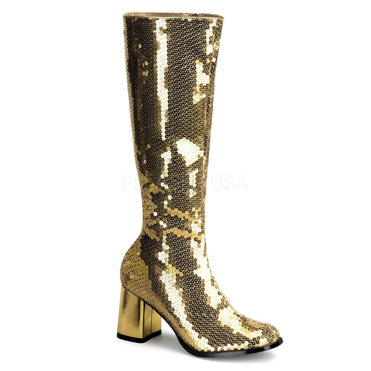 6558ca44895233 SPECTACUL 300SQ ° Damen Stiefel ° Gold Pailetten ° Bordello ...