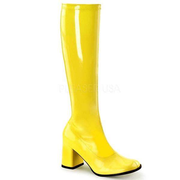 GOGO 300UV ° Damen Stiefel ° Gelb Glänzend ° Funtasma