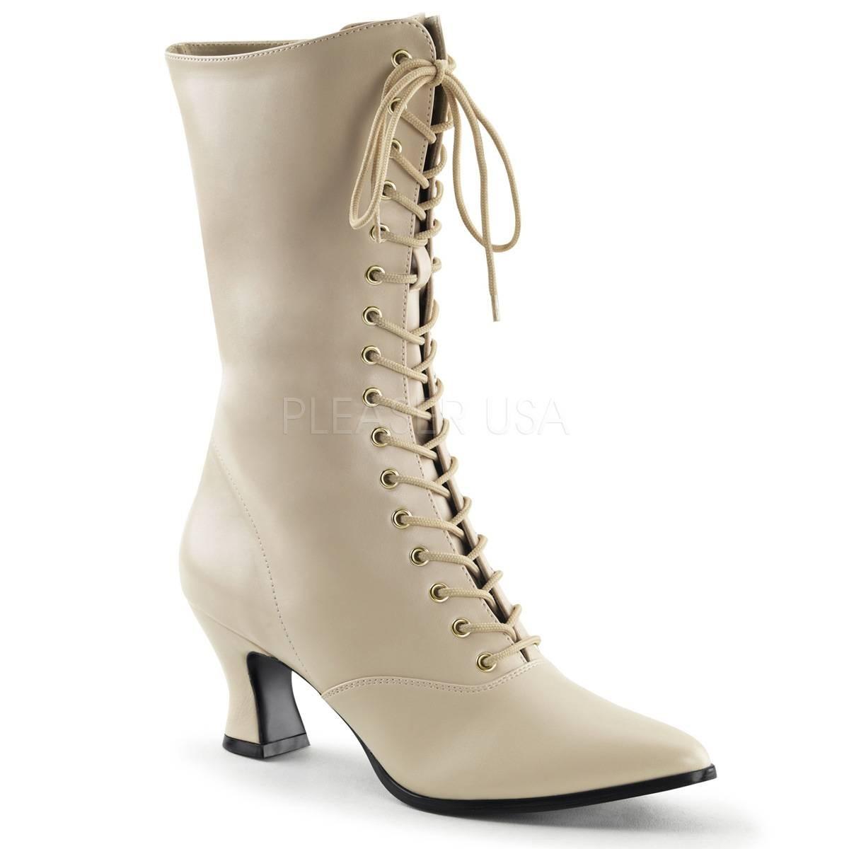 Stiefel - VICTORIAN 120 ° Damen Stiefel ° Elfenbein Matt ° Funtasma  - Onlineshop RedSixty
