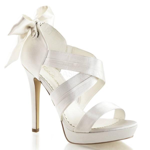 LUMINA 29 ° Damen Sandalette ° Weiß Satin ° Fabulicious