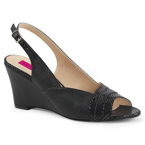 KIMBERLY 01SP ° Damen Sandalette ° SchwarzMatt ° Pleaser Pink Label