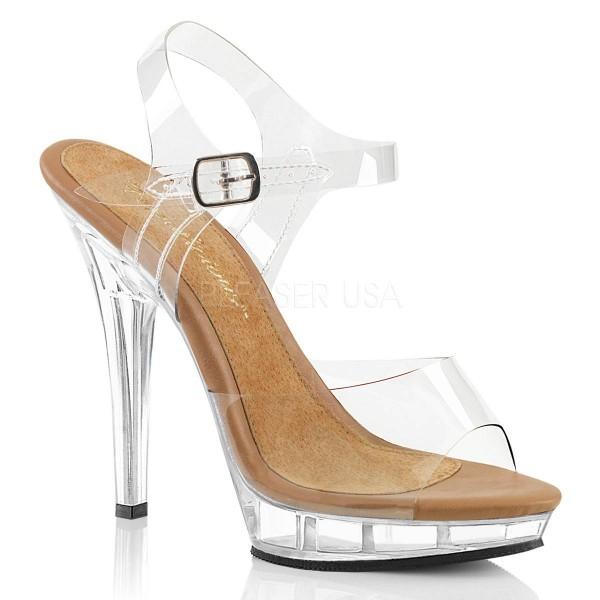 LIP 108 ° Damen Sandalette ° Transparent Matt ° Fabulicious
