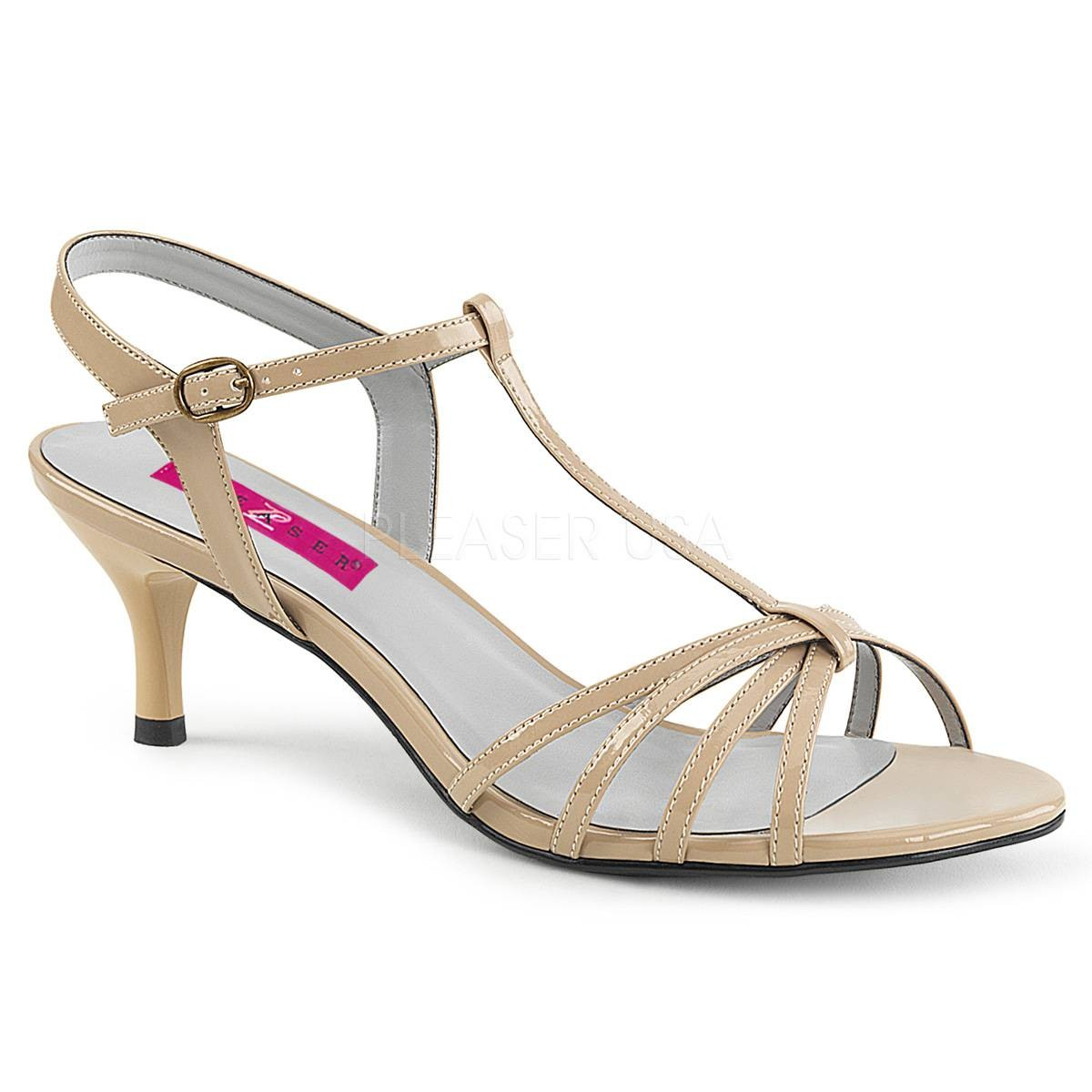 Sandalen - KITTEN 06 ° Damen Sandalette ° BeigeGlänzend ° Pleaser Pink Label  - Onlineshop RedSixty
