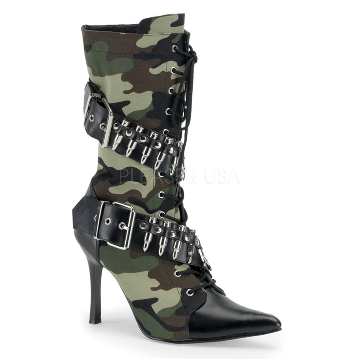 Stiefel - MILITANT 128 ° Damen Military Boots ° Grün Braun Matt ° Funtasma  - Onlineshop RedSixty