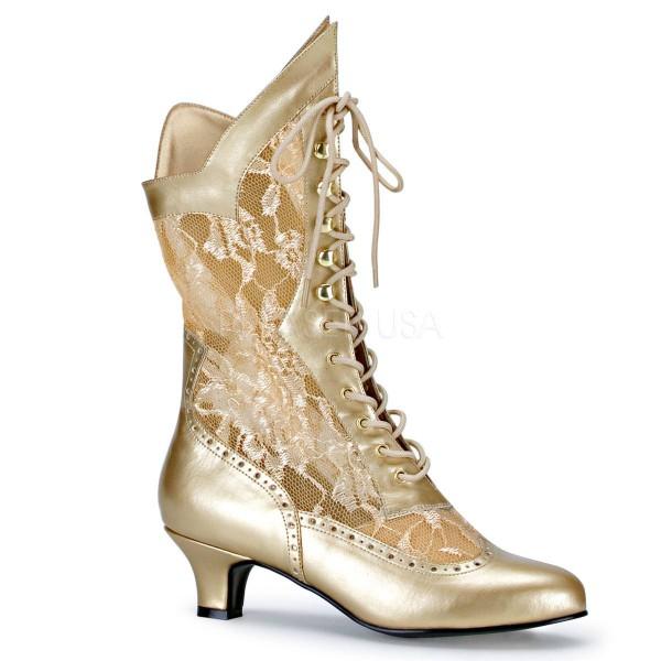 DAME 115 ° Damen Stiefel ° Gold Matt ° Funtasma