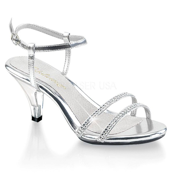 BELLE 316 ° Damen Sandalette ° Silber Matt ° Fabulicious