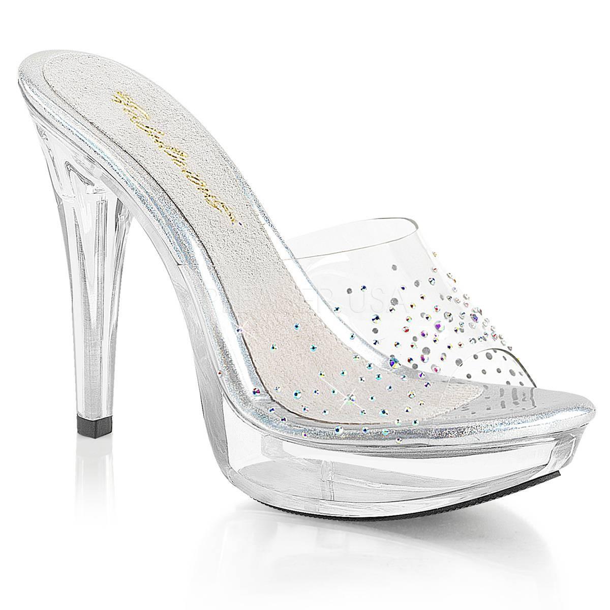 Highheels für Frauen - COCKTAIL 501SD ° Damen Sandalette ° TransparentMatt ° Fabulicious  - Onlineshop RedSixty