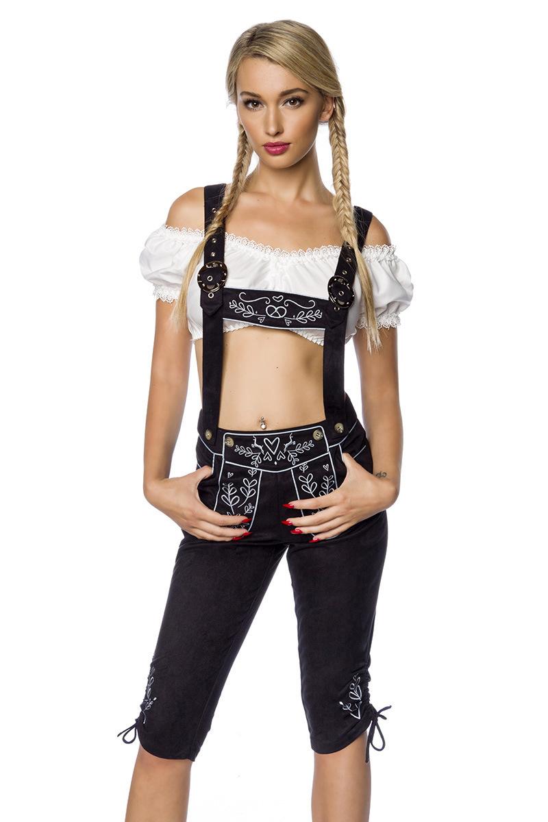 Trachtenhose mit Stickereien ° Schwarz ° Dirndline   Hosen   Fashion    RedSixty 013fcb1337