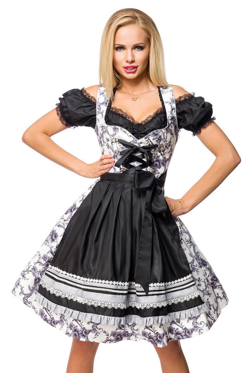 Kleider für Frauen - Dirndl ° Grau Schwarz Weiß ° Dirndline - Onlineshop  RedSixty 08be63f1a6
