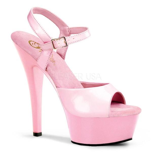 KISS 209 ° Damen Sandalette ° Pink Glänzend ° Pleaser