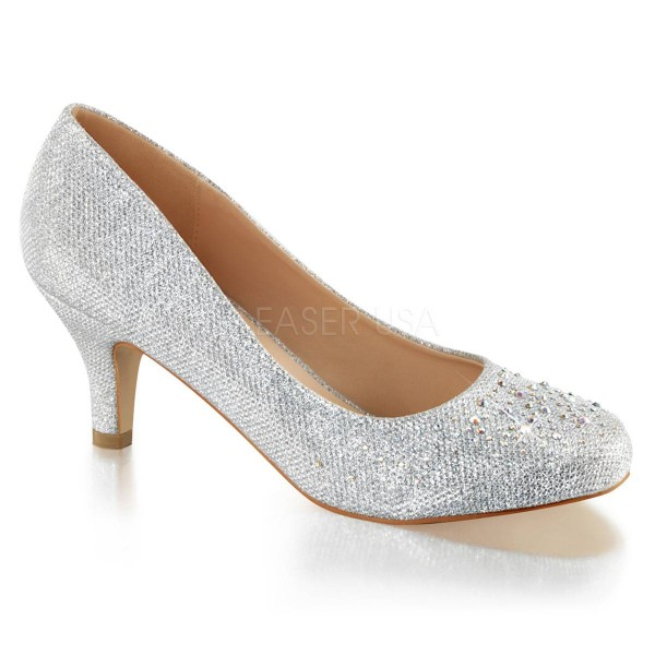 DORIS 06 ° Damen Pumps ° Silber Matt ° Fabulicious