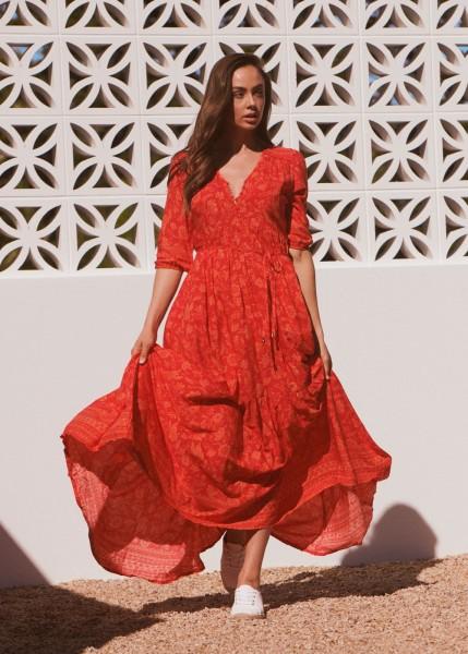 Jaase ° Red Lantern Charlie Maxi Kleid ° Rot