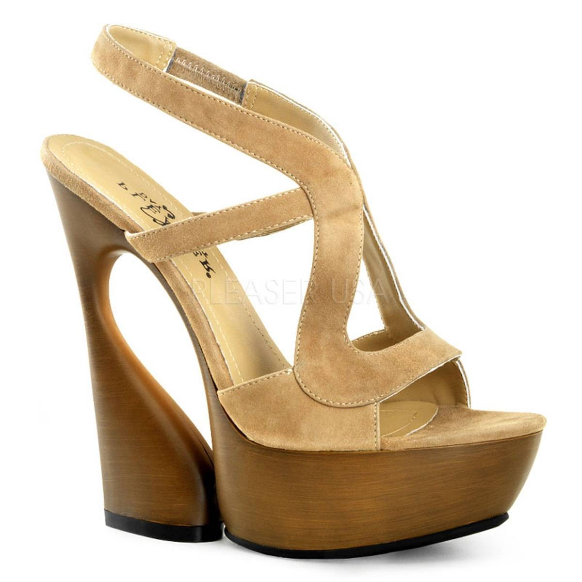 Highheels für Frauen - SWAN 657 ° Damen Sandalette ° Grau Leder ° Pleaser Day Night  - Onlineshop RedSixty