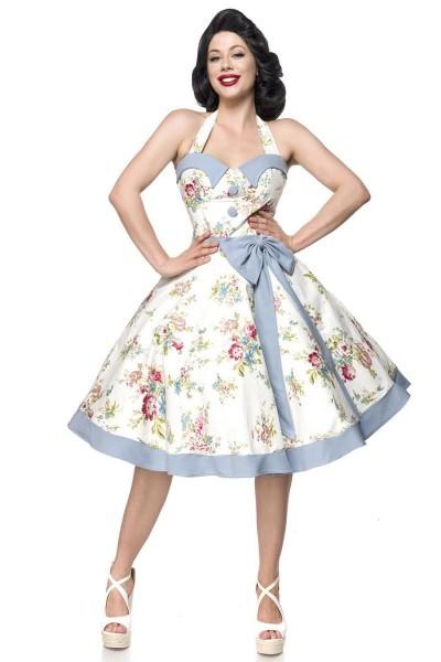 ° Rosa Weiß Swing Belsira Vintage Kleid Blau TlcFKJu135