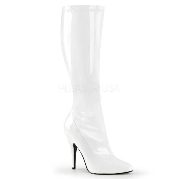 SEDUCE 2000 ° Damen Stiefel ° Weiß Glänzend ° Pleaser