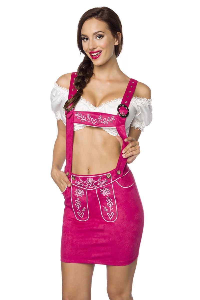 Roecke - Trachtenmini mit Stickereien ° Pink ° Dirndline  - Onlineshop RedSixty