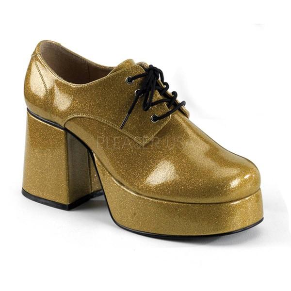 JAZZ 02G ° Herren Plateauschuh ° Gold Glitter ° Funtasma