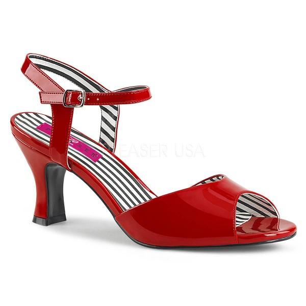 JENNA 09 ° Damen Sandalette ° RotGlänzend ° Pleaser Pink Label
