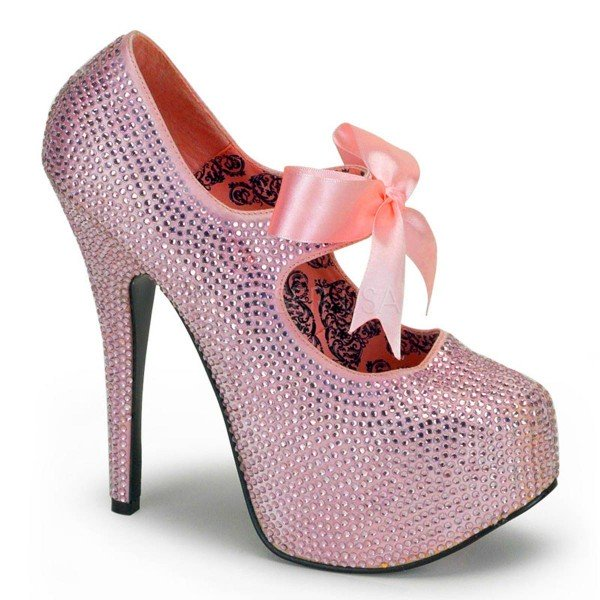 TEEZE 04R ° Damen Pumps ° Pink Strass ° Bordello