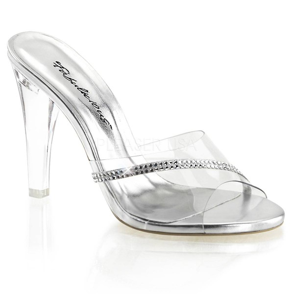 CLEARLY 401R ° Damen Sandalette ° Transparent Matt ° Fabulicious