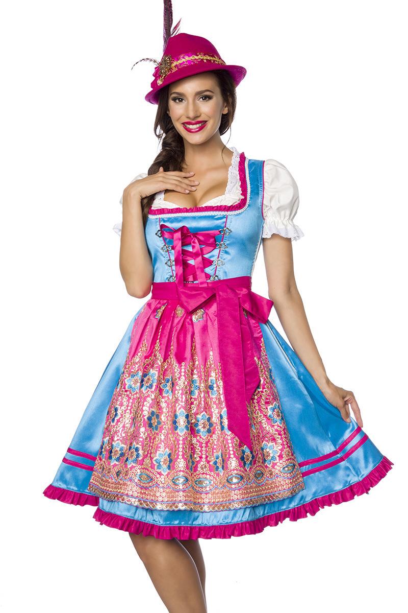 Premium Dirndl ° Blau-Pink ° Dirndline   Dirndl   Fashion   RedSixty 812e0dfe91