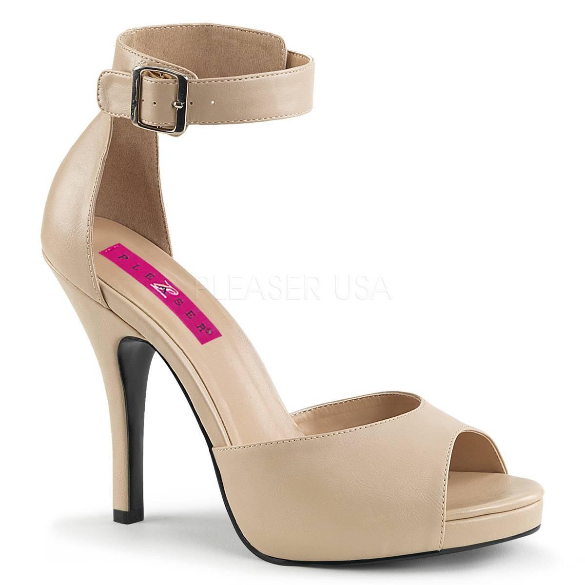Sandalen - EVE 02 ° Damen Sandalette ° BeigeMatt ° Pleaser Pink Label  - Onlineshop RedSixty