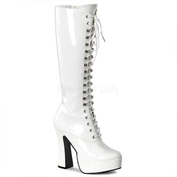 ELECTRA 2020 ° Damen Stiefel ° Weiß Glänzend ° Pleaser