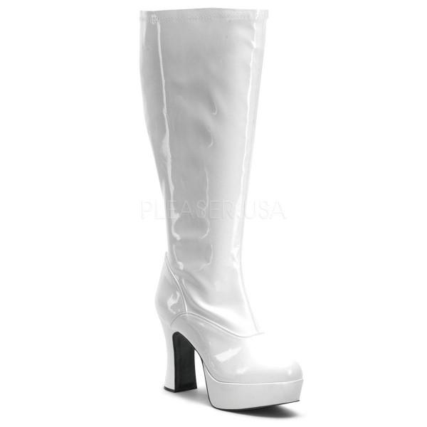 EXOTICA 2000X ° Damen Stiefel ° Weiß Glänzend ° Funtasma