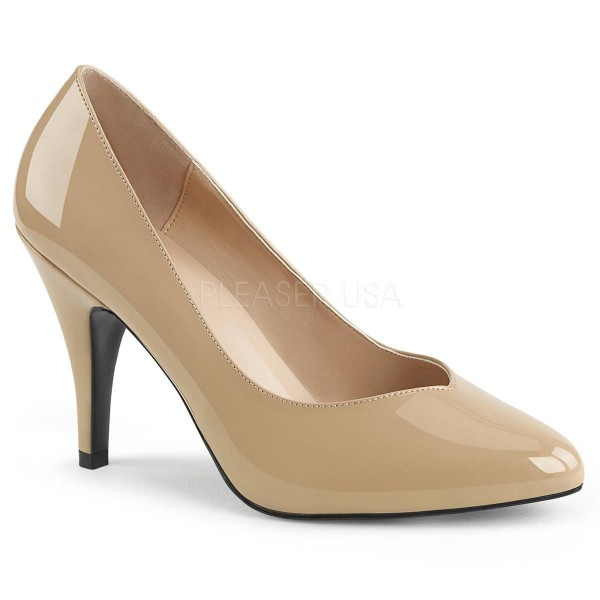 DREAM 420 ° Damen Pumps ° BeigeGlänzend ° Pleaser Pink Label