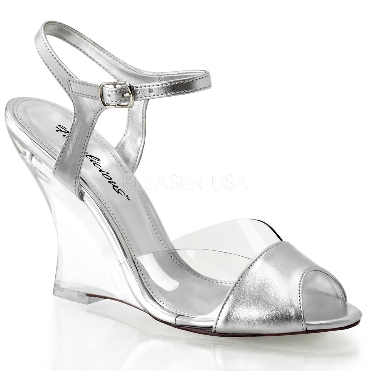 Sandalen - LOVELY 442 ° Damen Sandalette ° Silber Matt ° Fabulicious  - Onlineshop RedSixty