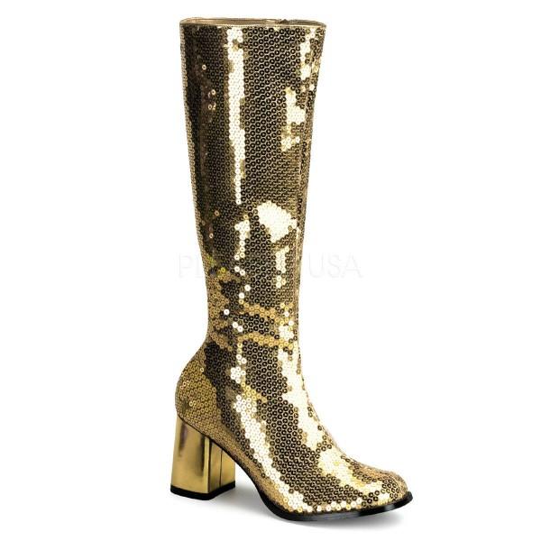 SPECTACUL 300SQ ° Damen Stiefel ° Gold Pailetten ° Bordello