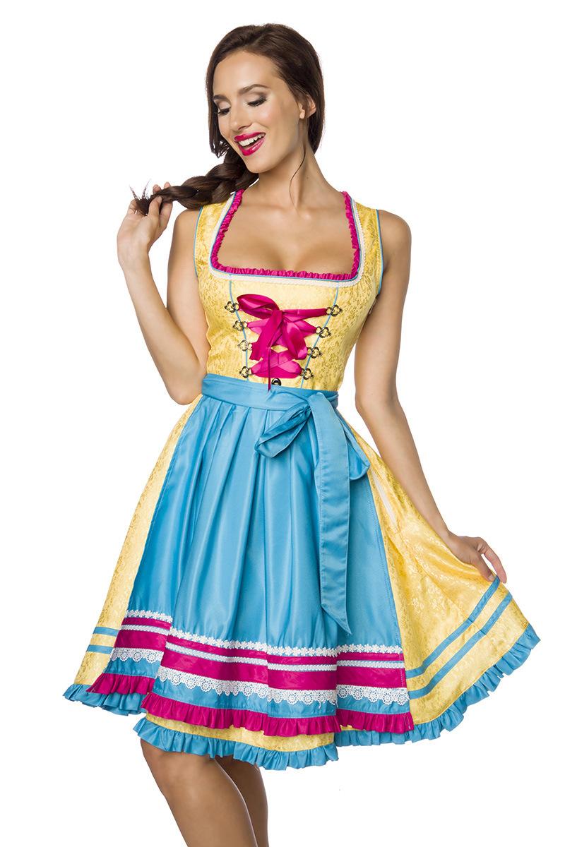 Dirndl ° Gelb-Blau-Pink ° Dirndline   Dirndl   Fashion   RedSixty aed13a406f