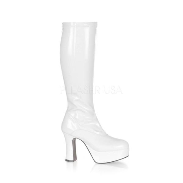 EXOTICA 2000 ° Damen Stiefel ° Weiß Glänzend ° Funtasma