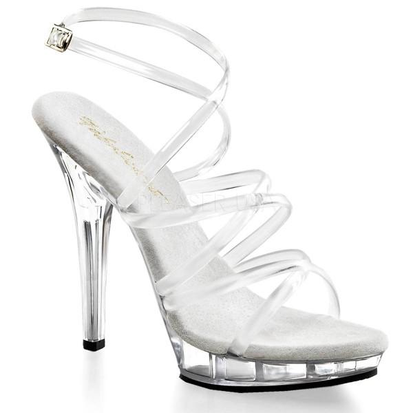 LIP 106 ° Damen Sandalette ° Transparent Matt ° Fabulicious