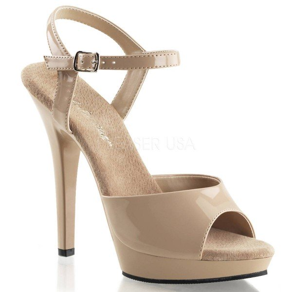 LIP 109 ° Damen Sandalette ° Beige Glänzend ° Fabulicious