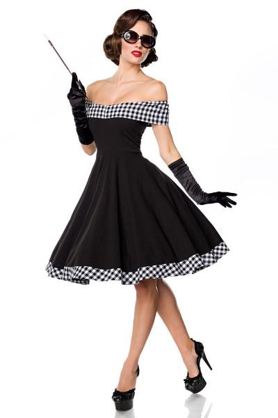 Schulterfreies Swing-Kleid ° Schwarz-Weiß ° Belsira