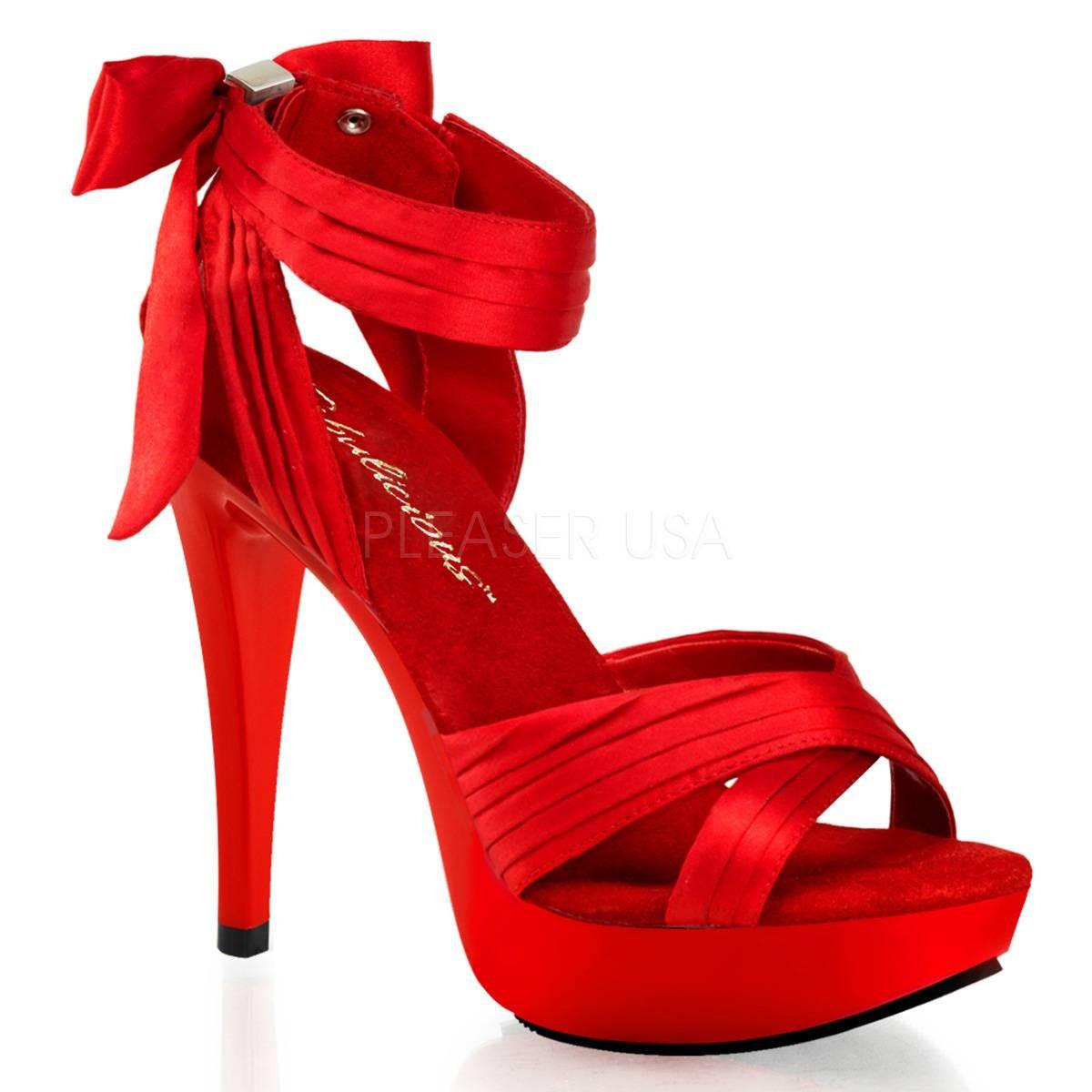 Highheels - COCKTAIL 568 ° Damen Sandalette ° Rot Matt ° Fabulicious  - Onlineshop RedSixty