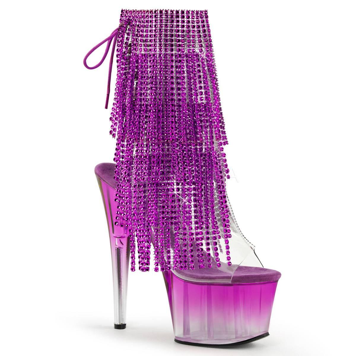 Stiefel für Frauen - ADORE 1017RSFT ° Damen Stiefelette ° TransparentMatt ° Pleaser  - Onlineshop RedSixty