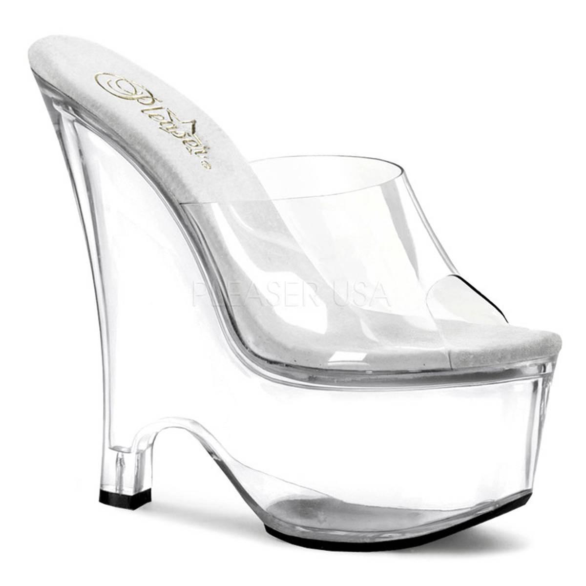 Sandalen - BEAU 601 ° Damen Sandalette ° Transparent Matt ° Pleaser  - Onlineshop RedSixty