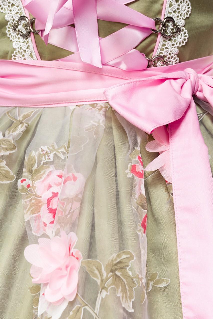 Kleider - Dirndl mit Blumenschürze ° Grün Pink ° Dirndline  - Onlineshop RedSixty
