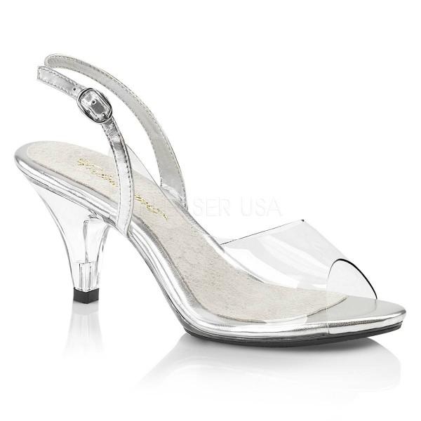 BELLE 350 ° Damen Sandalette ° TransparentMatt ° Fabulicious
