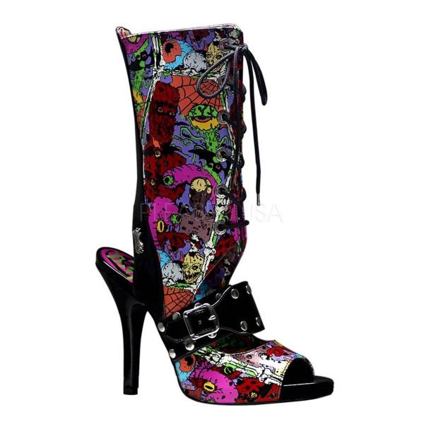 ZOMBIE 103 ° Damen Sandalette ° Mehrfarbig Glänzend ° Demonia