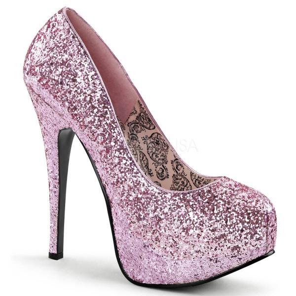 TEEZE 06G ° Damen Pumps ° Pink Glitter ° Bordello