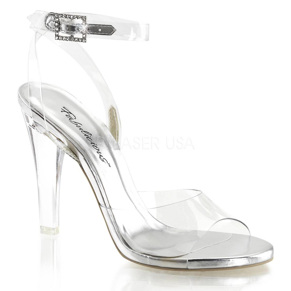 Sandalen - CLEARLY 406 ° Damen Sandalette ° Transparent Matt ° Fabulicious  - Onlineshop RedSixty