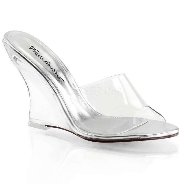 LOVELY 401 ° Damen Sandalette ° Transparent Matt ° Fabulicious